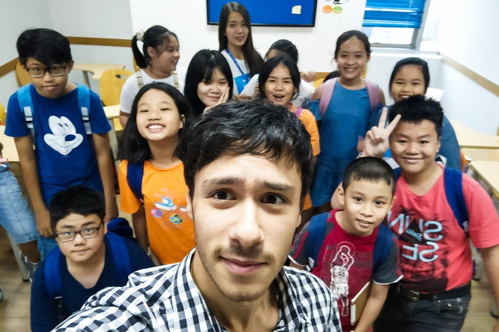 Teaching kids in an English Centre
